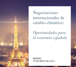 International negotiations on climate change: Opportunities for the Spanish economy