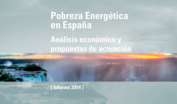 "Presentation of the  Economics for Energy  Report: ""Energy Poverty in Spain: Economic Analysis and Action Proposals"""
